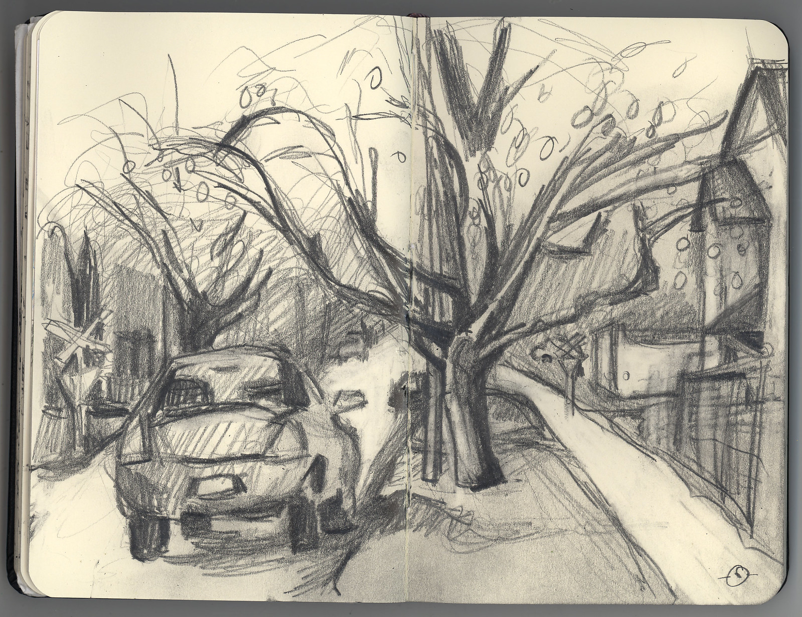 Apple Tree on 2nd Street sketch