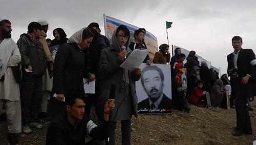 تجمع بازماندگان قربانیان در پولیگون پلچرخی