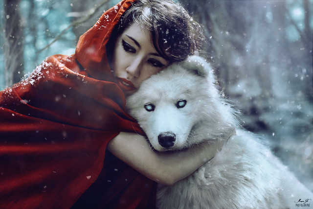 The girl and the wolf.
