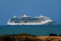 Radiance Of The Seas At Anchor Yorkey`s Knob