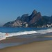 A girl in the surf at Ipanema by Walt K