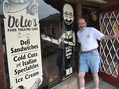 Tom DeLeo at his deli in Estes Park