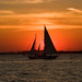 Sailboat in the waters off New York