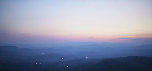 trees sunset sky mountains nature landscape twilight north carolina appalachia