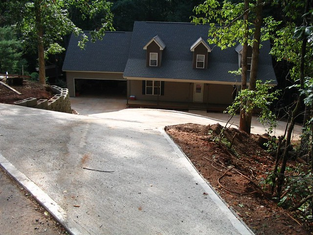 Steep driveway flickr photo sharing for Steep driveway construction