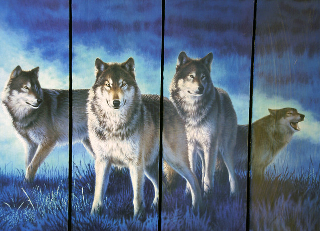 Wolves Painting