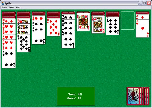 Spider Solitaire in Progress | Flickr - Photo Sharing!