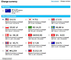 Changing Skype currency
