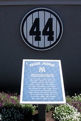 Yankee Stadium: Monument Park - Retired Numbers - Reggie Jackson #44