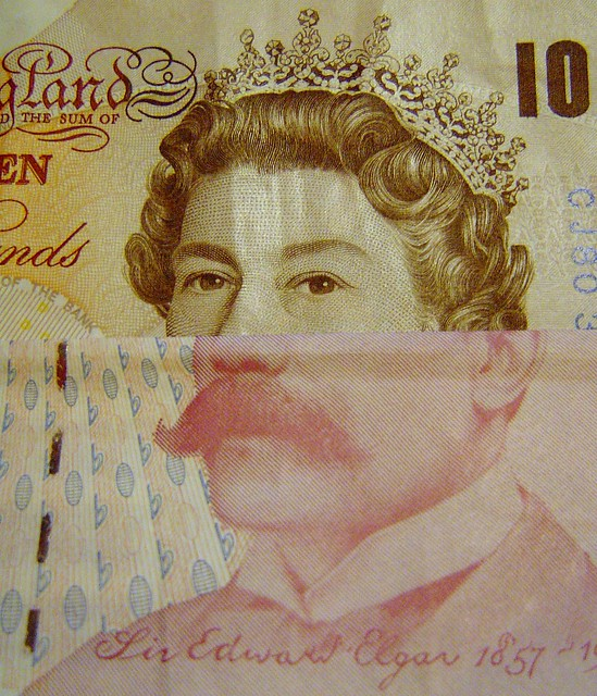 Stirling Note Mash-up: The Queen and Sir Edward Elgar