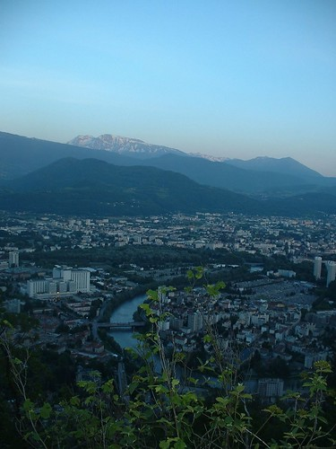 Grenoble at nightfall