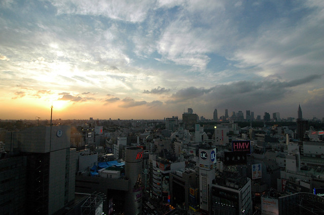 View of Shinjuku from Shibuya