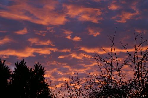 sunset sky mandeure