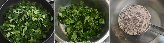 How to make Ragi Drumstick Leaves Adai Recipe - Step1