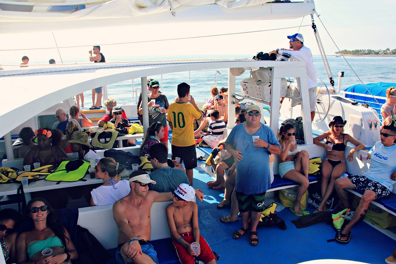 Onboard Fury Catamaran