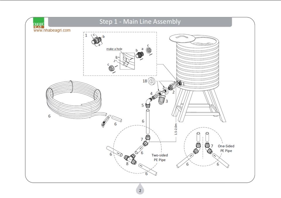 Lắp đặt hệ thống đường ống dẫn nước từ bể cấp
