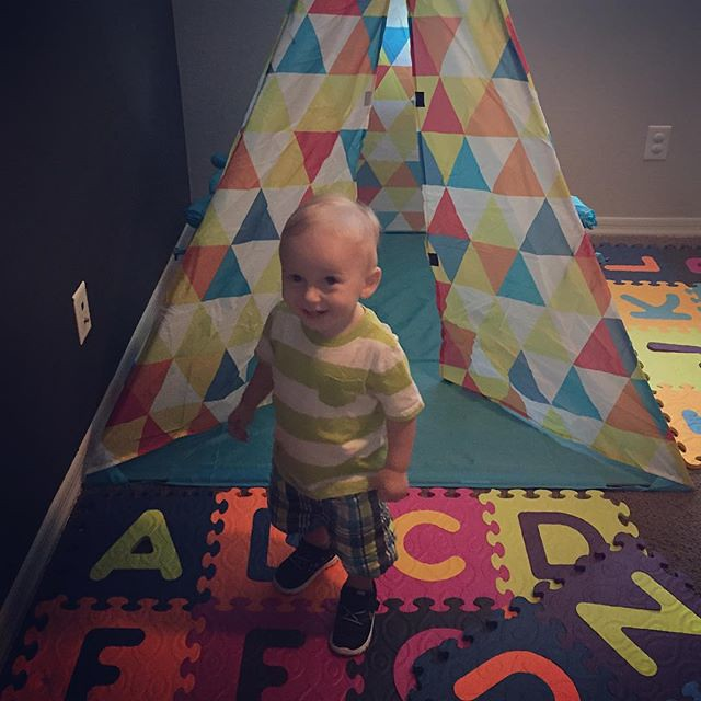 Archer is so happy for his new teepee! by bartlewife