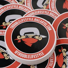 Custom Circle stickers for Trouble Lifestyle! @troublelifestyle Check them out troublelifestyle.bigcartel.com  Have our team help you with your project today!   Support@vinyldisorder.com - - www.vinyldisorder.com .  .  .  #design #custom #art #stickers #V