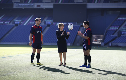First Minister meets Scottish Rugby team