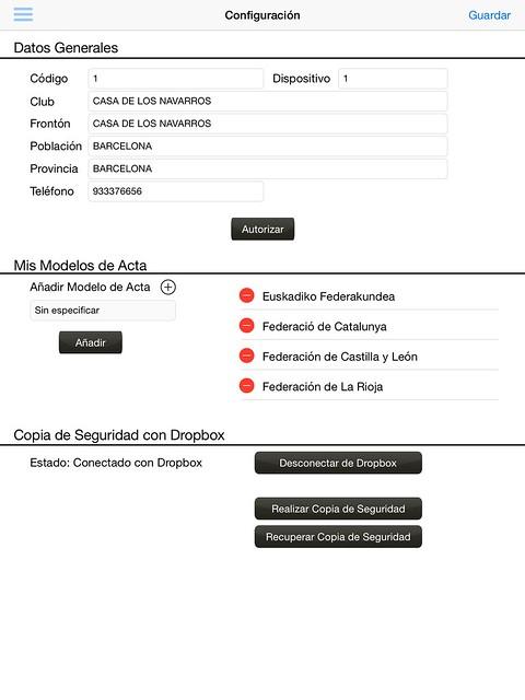 Configuración general de la App