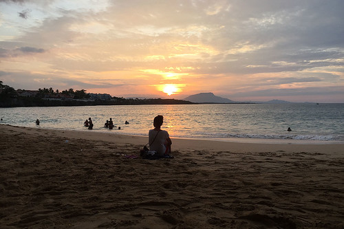 Sunset at Sosua beach