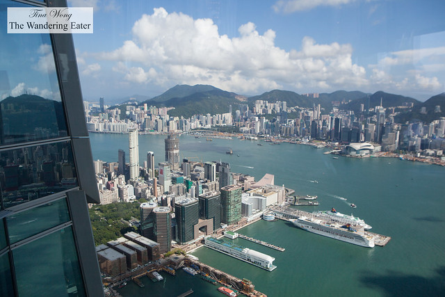 View of Hong Kong and Victoria Harbour