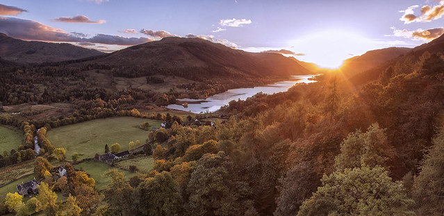 Sunset from The Boar's Rock, Scotland