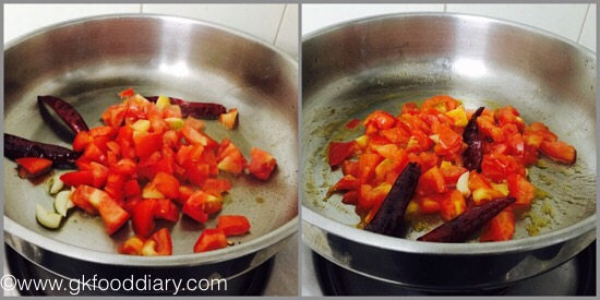 Tomato Dosa for Babies, Toddlers and Kids- step 1
