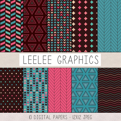 LeeLee Graphics - Brown Neons Texture Pack