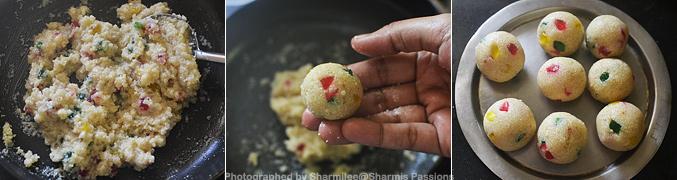 How to make rava laddu with condensed milk - Step3