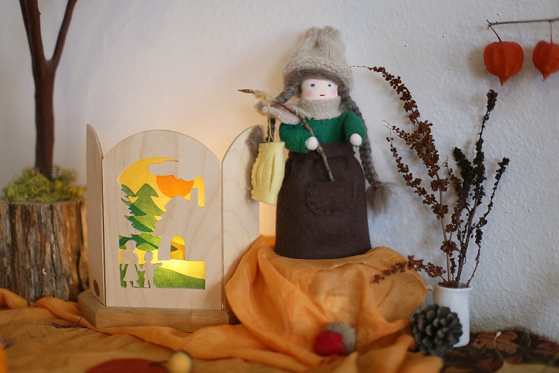 Martinmas swap nature table doll