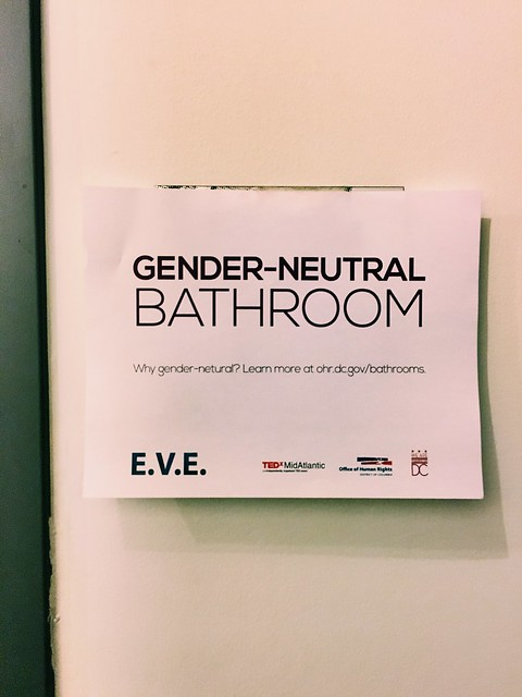 #TEDxEVE totally appropriate & not that big a deal - I ❤️ it DCHumanRights! #safebathroomsDC