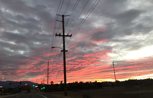 road morning pink field clouds sunrise grey wire pole powerlines wires redlands nofilter iphone lomalinda pnk iphoneography iphone6plus