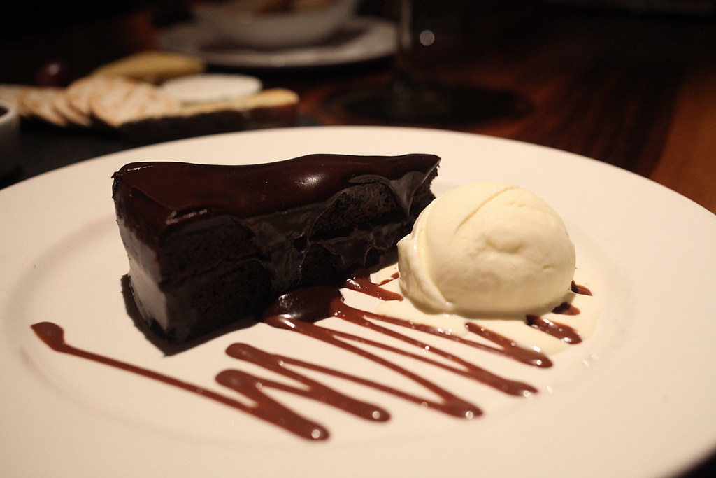 chocolate-cake-and-ice-cream-dessert-at-grill-on-the-market