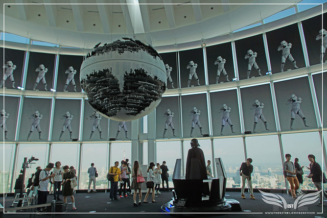 The Establishing Shot: STAR WARS VISIONS EXHIBITION - DEATH STAR II, DARTH VADER MEDITATION CHAMBER & STORM TROOPER BATTALION IN THE SKY GALLERY SKY GALLERY OF THE ROPPONGI HILLS OBSERVATION DECK  - SKY GALLERY ROPPONGI HILLS MORI ARTS CENTER, TOKYO