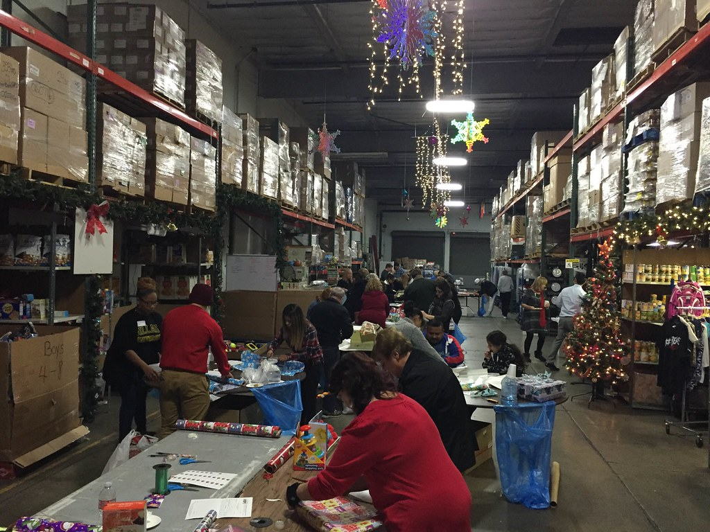 last years wrapping party in the GC Hope warehouse