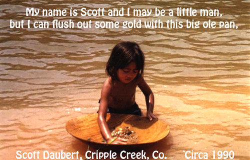 Scott Daubert - gold panning - cripple creek - colorado