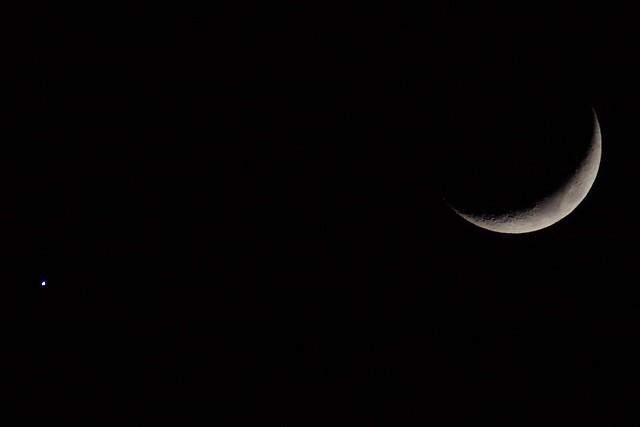 月と金星 (The moon and the venus.)