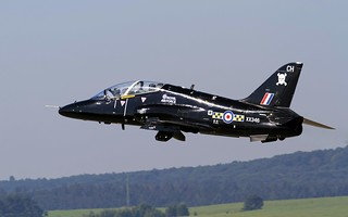 British Aerospace Hawk T.1A taking off in LZSL