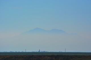 The Peak of Monte Diablo through the Haze