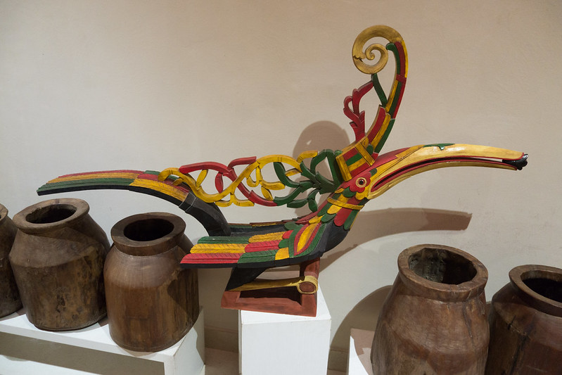 Sarawak hornbill carving