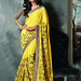 Yellow Embroidery Dazzling Bordered Saree Sarees on Shimply.com