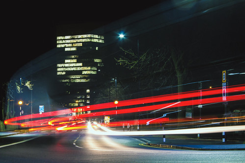 canoneos600d artstower universityofsheffield tuos longexposure streetphotography traffictrail lighttrail cityscape urban urbanlandscape tripod crookesmoor