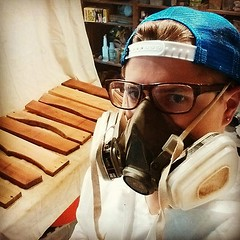 Spar varnish. Smells like victory. #lifewithladro #woodworking
