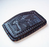 Vintage 1960s Tooled Leather Coin Purse Mexico Souvenir by karalennox