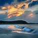 Sunset at Crane's Beach by Paula Stephens