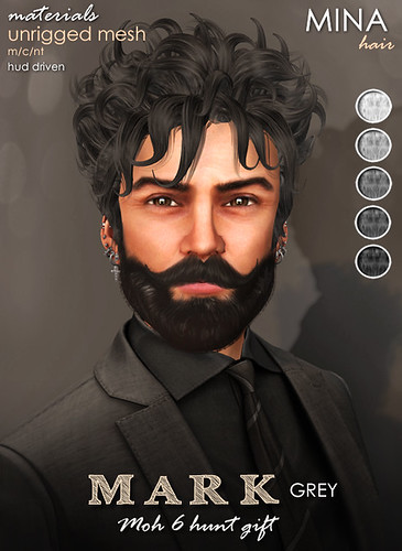 MINA Hair - Mark Grey for Men Only Hunt (MOH6)