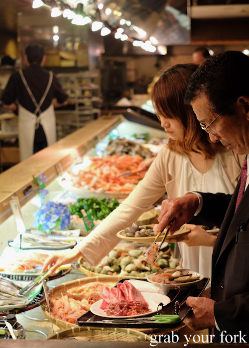 Nanda all-you-can-eat buffet in Sapporo