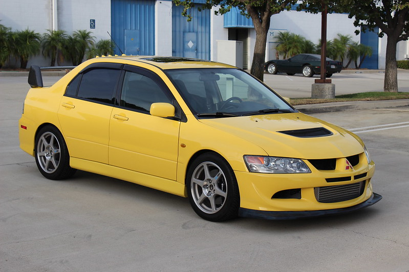 fs west 2003 lightning yellow evo 8 49 000 miles. Black Bedroom Furniture Sets. Home Design Ideas