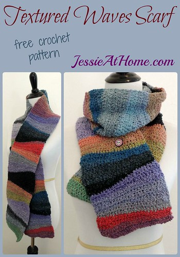Textured Waves Scarf ~ free crochet pattern by Jessie At Home